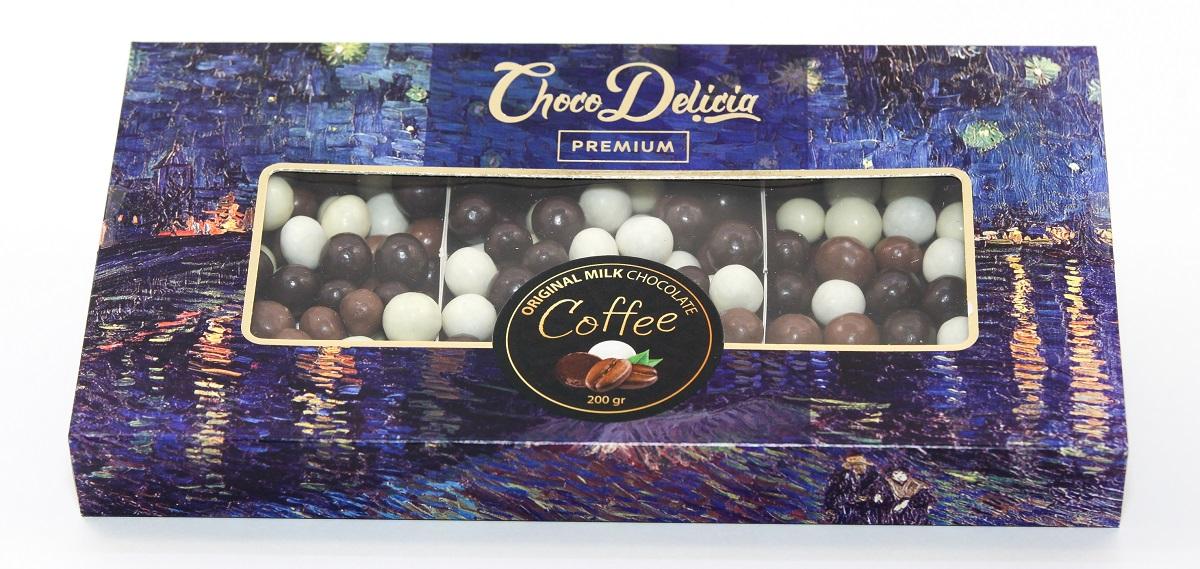 Choco Delicia Драже кофейное микс, 200г barkleys chocolate cinnamon драже шоколад корица 50 г