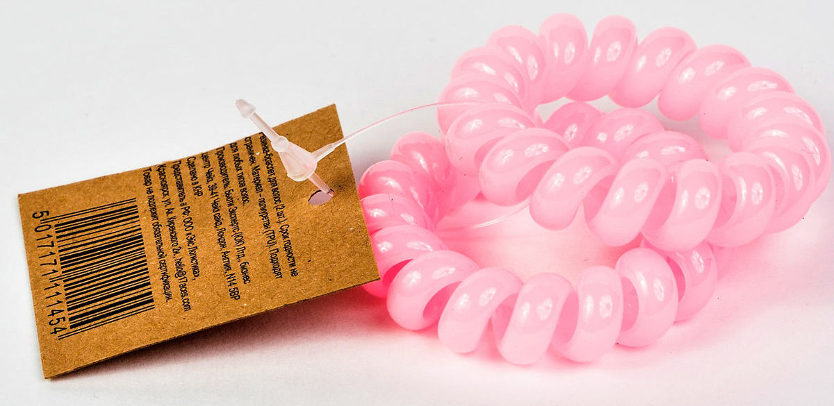 Muah! Резинка для волос, цвет: светло-розовый 2 шт резинки радужки резинки для волос с виноградом и декором набор 2 штуки светло фиолетовый