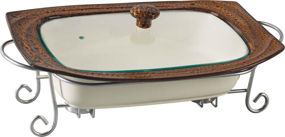 Подходит для использования в микроволновой печи и духовке. Равномерно сохраняет тепло долгое время. Можно мыть в посудомоечной машине. Материал: термостойкая керамика. Размер: 38 х 28 х 7,5 см. Объем: 2,4 л.