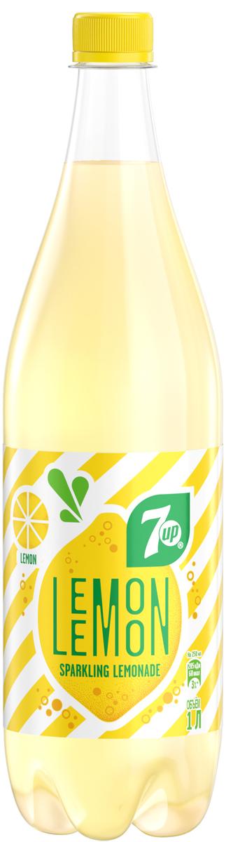 7-UP Lemon Искрящийся лимонад напиток сильногазированный, 1 л perrier напиток с ароматом лайма сильногазированный 0 25 л