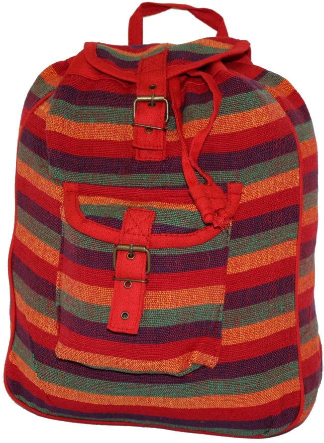 Рюкзак-торба женский Ethnica, цвет: красный. 187250