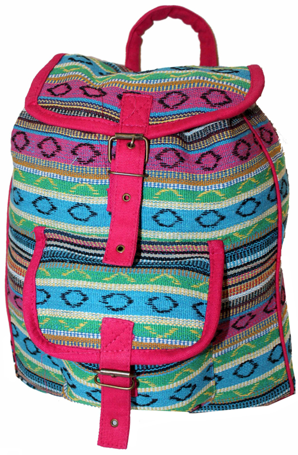 Рюкзак-торба женский Ethnica, цвет: голубой, зеленый. 187250