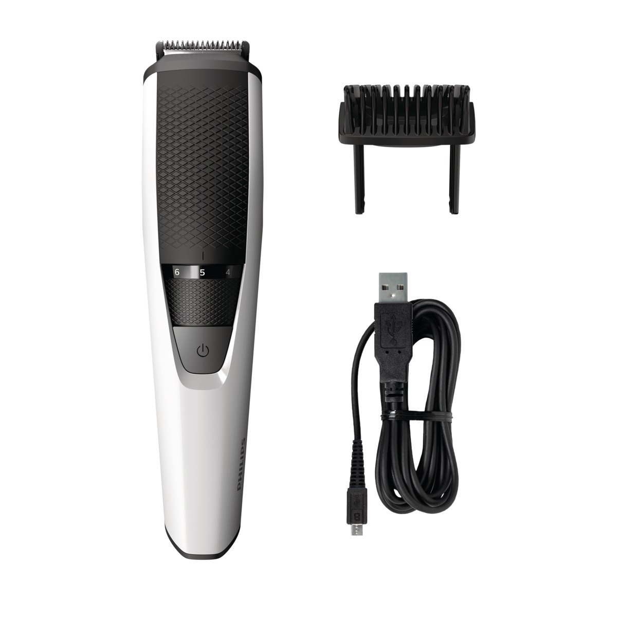 Philips Series 3000 BT3202/14, Silver Black триммер для бороды