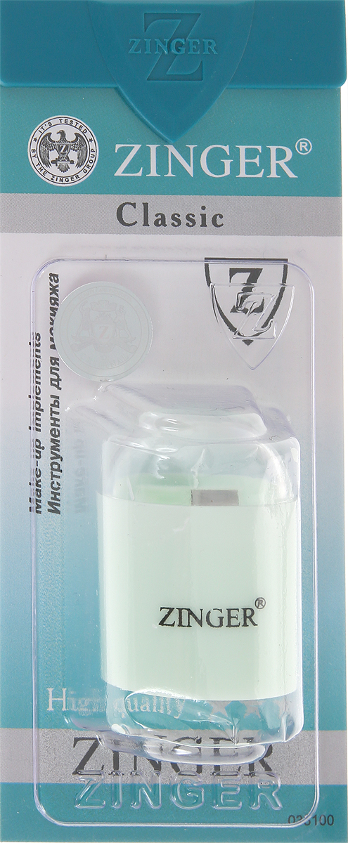 Zinger Точилка, цвет: мятный, zo-SH-06 zinger пилка стеклянная двухсторонняя zo fg 02 10 case цвет красный