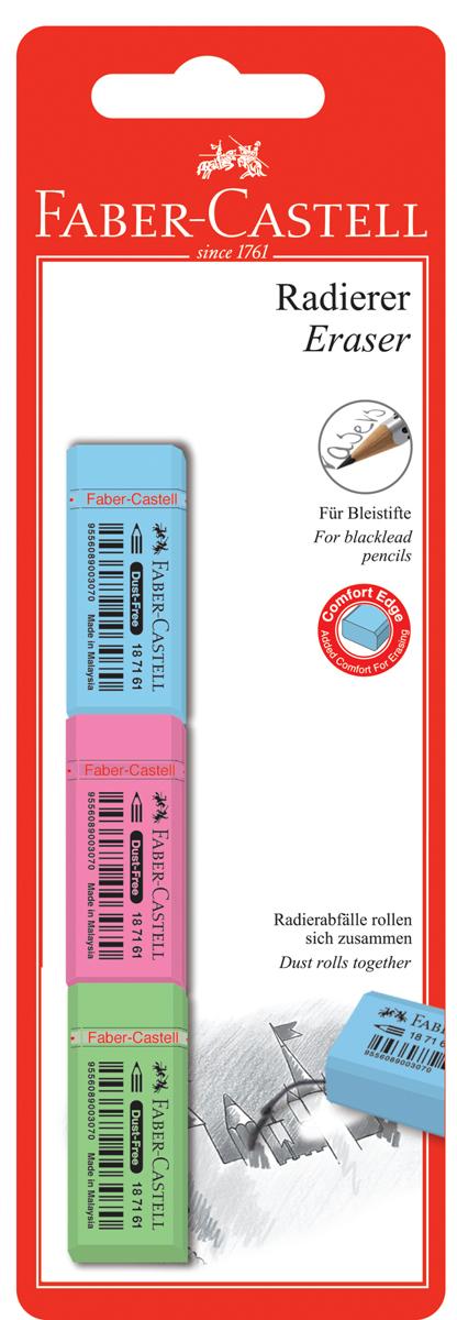 Faber-Castell Ластик флуоресцентный набор цветов 3 шт faber castell ручки шариковые trilux 3 шт