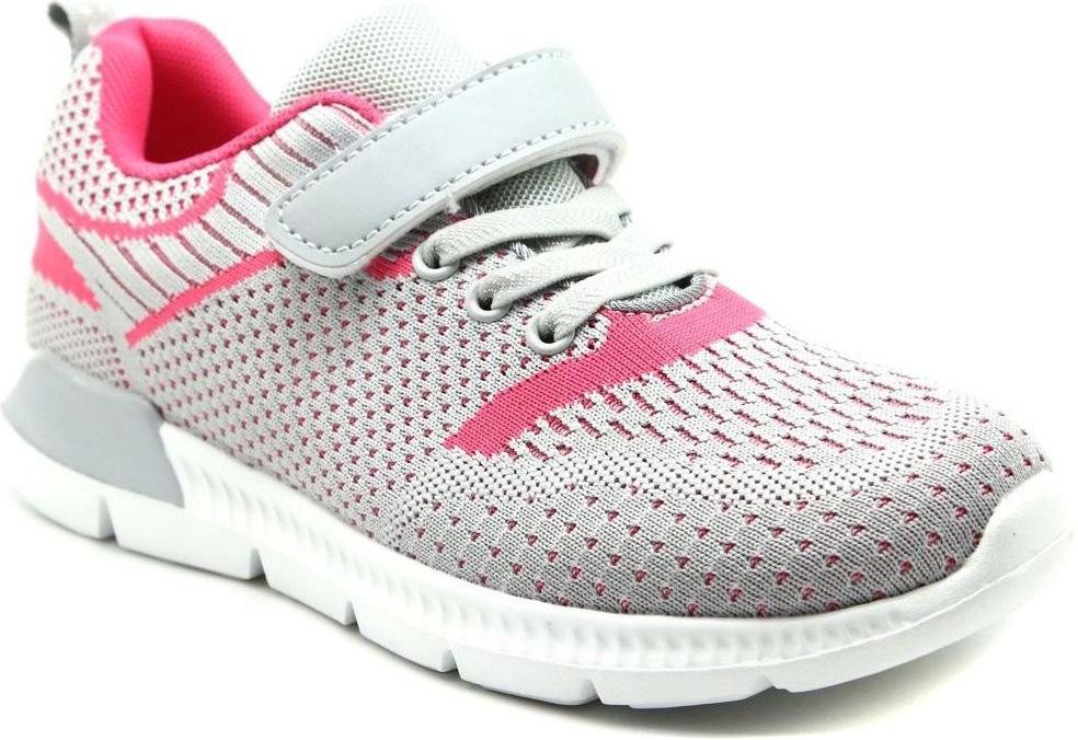 Кроссовки для девочки Капитошка, цвет: серый, фуксия. E9213. Размер 32