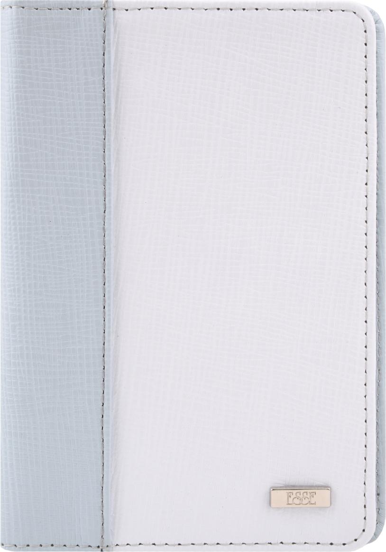 цена на Обложка для паспорта женская Esse Рage, цвет: голубой, белый. GPGE00-000000-FF609O-K100