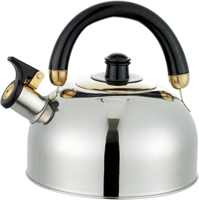 Чайник Bayerhoff, со свистком, цвет: металлик, черный, 3,5 л. BH-861 чайник со свистком cook