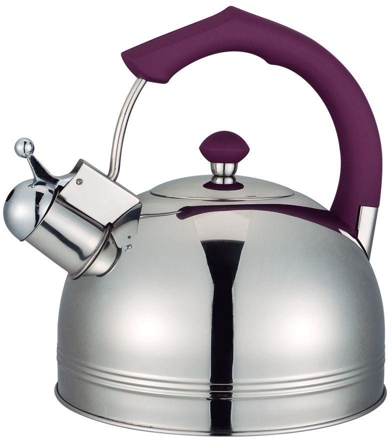 """Чайник """"Bayerhoff"""" со свистком изготовлен из высококачественной нержавеющей стали. Эргономичная ручка не нагревается и не скользит.  Подходит для всех типов плит, включая индукцию."""