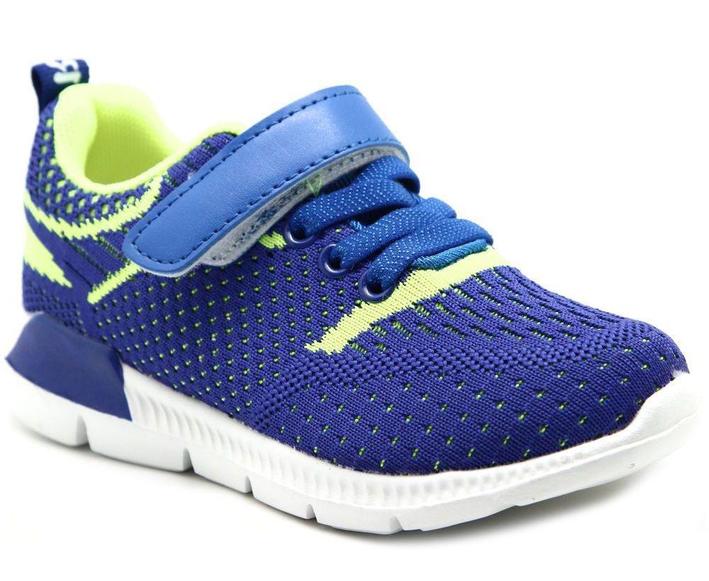 Кроссовки для мальчика Капитошка, цвет: синий, салатовый. E9202. Размер 28