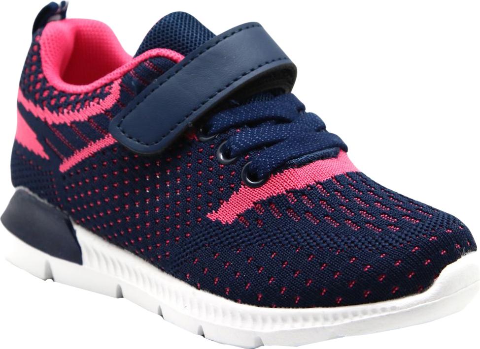 Кроссовки для девочки Капитошка, цвет: синий, розовый. E9199. Размер 28E9199Стильные кроссовки от Капитошка придутся по душе вашей девочке. Модель, выполненная из качественного текстиля, оформлена принтом. Эластичная шнуровка и ремешок с липучкой надежно фиксируют обувь на ноге. Подкладка и стелька из текстиля гарантируют комфорт при носке. Рифление на подошве обеспечивает идеальное сцепление с любыми поверхностями.