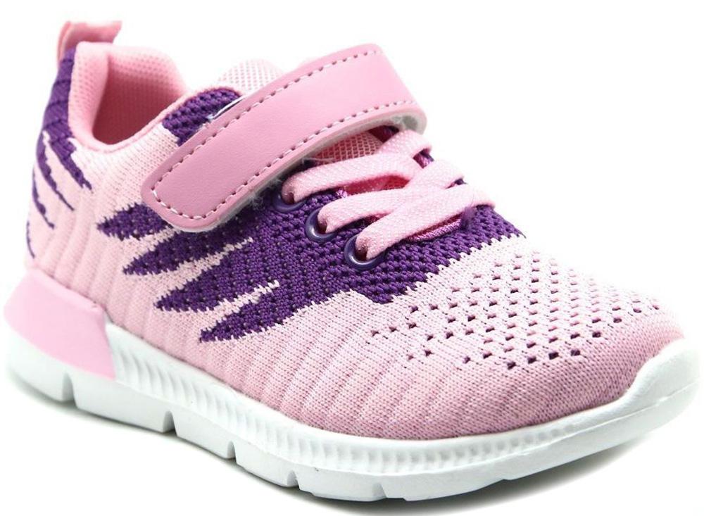 Кроссовки для девочки Капитошка, цвет: розовый, фиолетовый. E9193. Размер 26E9193Стильные кроссовки от Капитошка придутся по душе вашей девочке. Модель, выполненная из качественного текстиля, оформлена принтом. Эластичная шнуровка и ремешок с липучкой надежно фиксируют обувь на ноге. Подкладка и стелька из текстиля гарантируют комфорт при носке. Рифление на подошве обеспечивает идеальное сцепление с любыми поверхностями.