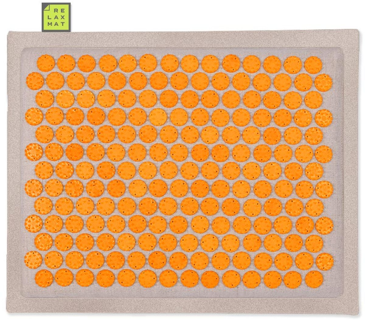 Relaxmat Массажный коврик, цвет: оранжевый, 40 х 30 см