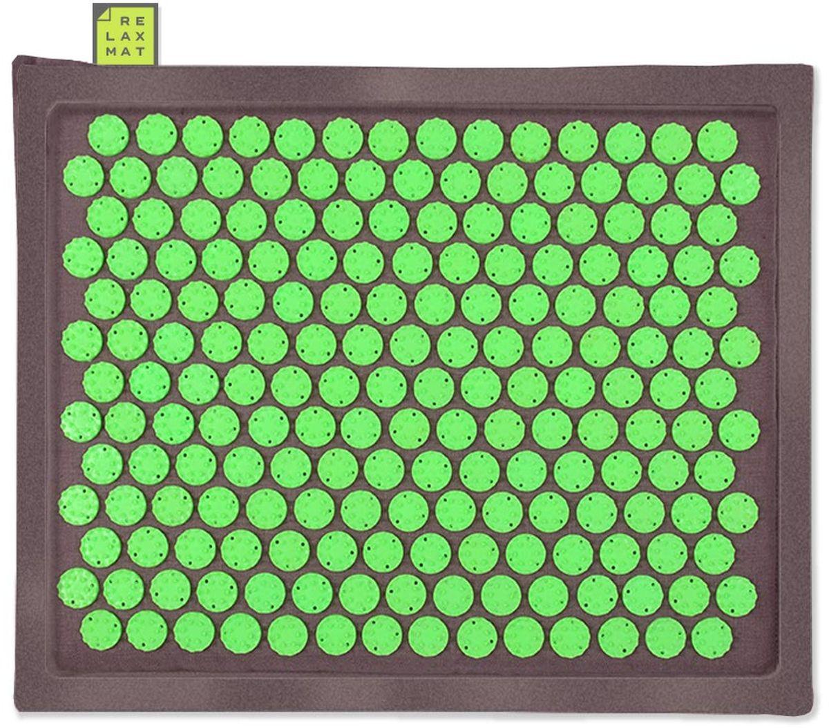 Relaxmat Массажный коврик, цвет: зеленый, графитовый, 40 х 30 см