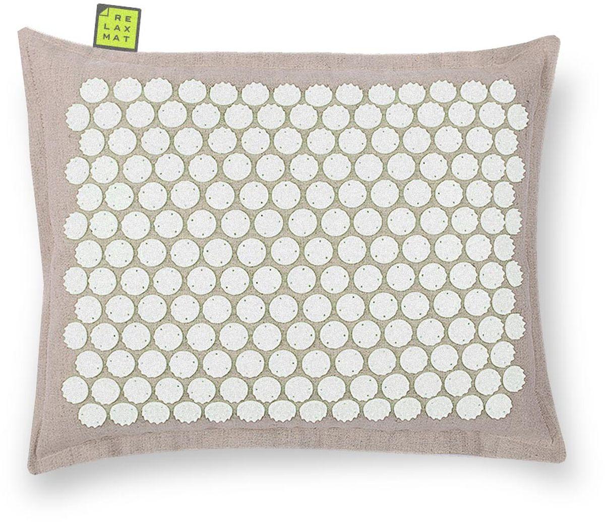 Relaxmat Массажная подушка, цвет: белый