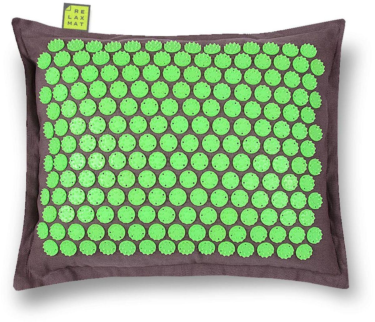 Relaxmat Массажная подушка, цвет: зеленый, графитовый