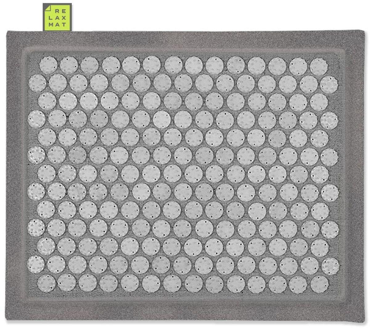 Relaxmat Массажный коврик, цвет: серый, графитовый, 40 х 30 см