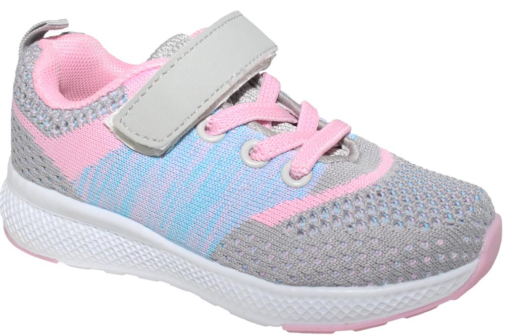 Кроссовки для девочки Капитошка, цвет: серый, розовый. E8761. Размер 28E8761Стильные кроссовки от Капитошка придутся по душе вашей девочке. Модель, выполненная из качественного текстиля, оформлена принтом. Эластичная шнуровка и ремешок с липучкой надежно фиксируют обувь на ноге. Подкладка и стелька из текстиля гарантируют комфорт при носке. Рифление на подошве обеспечивает идеальное сцепление с любыми поверхностями.