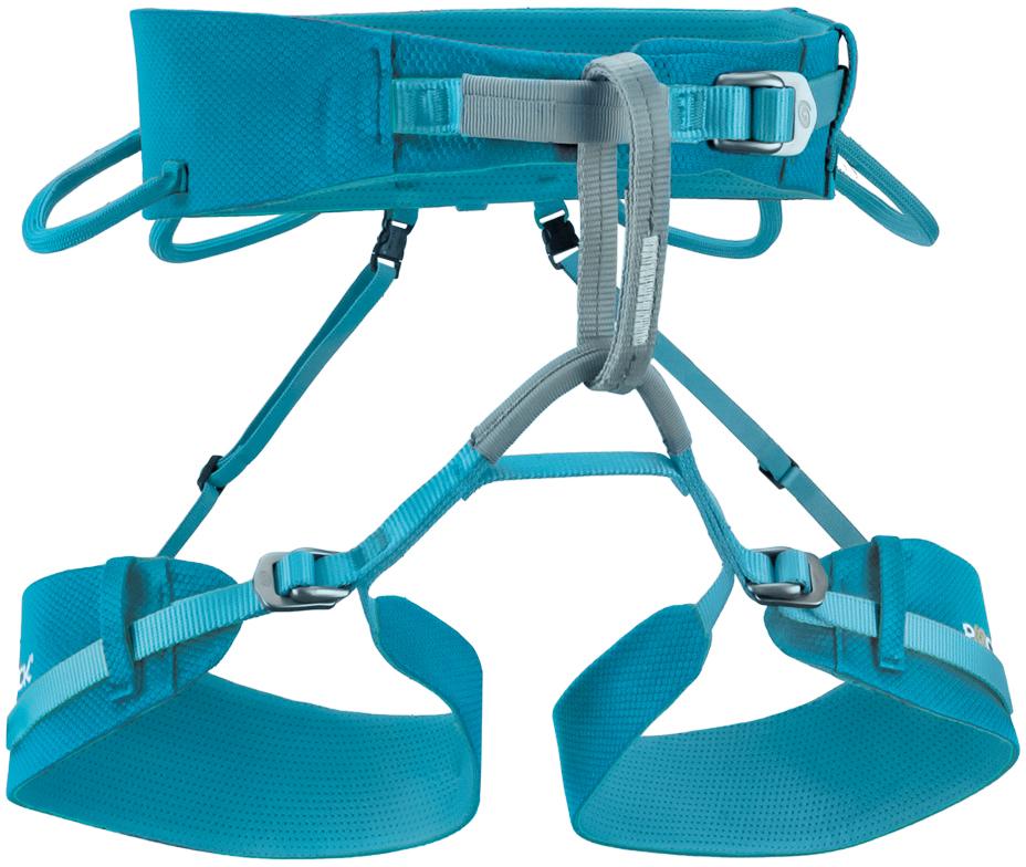 """""""3B Slight Woman"""" специально разработана для спортивного скалолазания. Благодаря облегченному весу и зафиксированным ножным лямкам, обвязка дает несравнимый комфорт и свободу движений. Вы будете вспоминать об обвязке только когда посмотрите на нее. А благодаря яркому дизайну на нее стоит посмотреть. Эффективное распределение веса по материалу.  3 алюминиевые пряжки для еще более точной настройки размера, 16 мм - пояс, 12 мм - ноги. Эргономичные ножные и поясные лямки. 4 асимметричных боковых петли (нагрузка 5 кг). Легкая страховочная петля контрастных цветов (ширина 12 мм, нагрузка 15 кН). Удаляемые эластичные лямки для спины. Разработана для максимального комфорта женщин. Вес - 296 гр."""