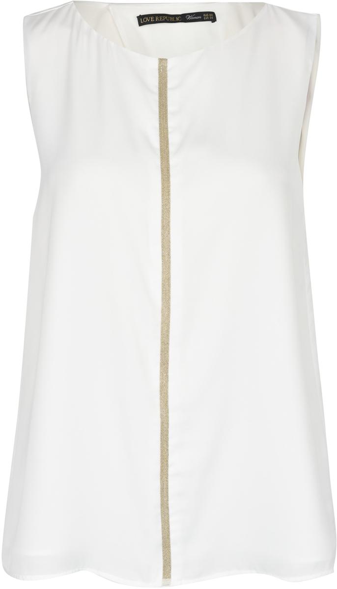 Блузка женская Love Republic, цвет: белый. 8254613308_1. Размер 42