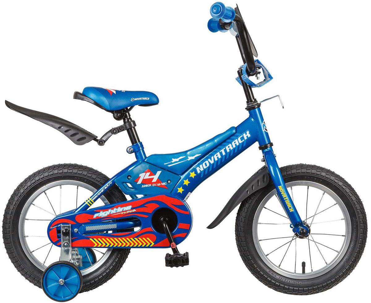 Велосипед детский Novatrack  Flightline , цвет: синий, 14  - Детские велосипеды