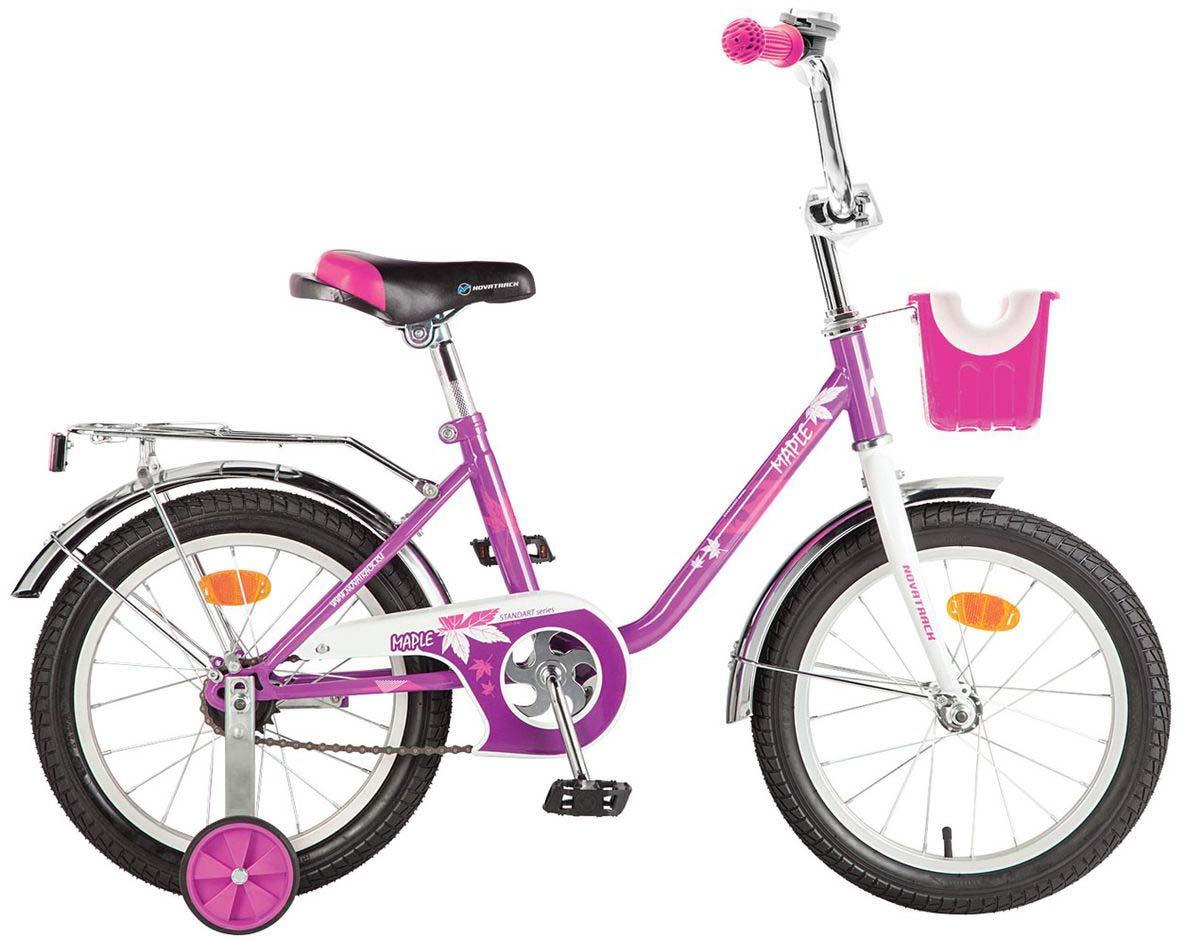 Велосипед детский Novatrack Maple, цвет: сиреневый, 16