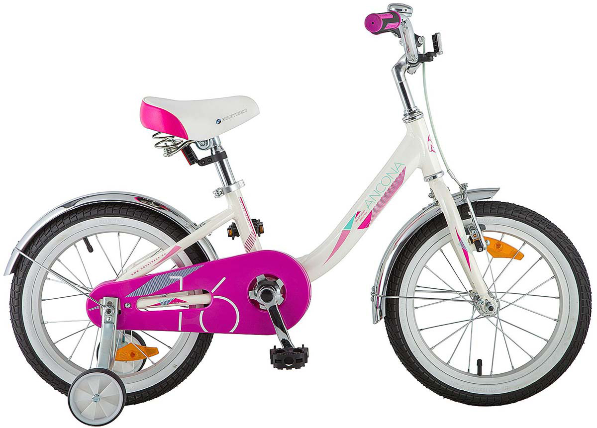 Велосипед детский Novatrack Ancona, цвет: белый, 16
