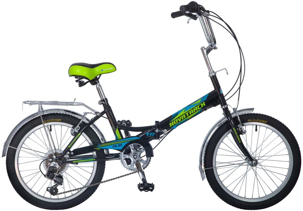 """Novatrack """"FS30"""" - это складной велосипед для ребят 8-14 лет, отлично сочетающий в себе надежность, практичность яркий дизайн и удобство. Велосипед оснащен 6-скоростной системой переключения скоростей, ручным тормозом, хромированными крыльями и багажником, защитой цепи, подножкой. Руль и сидение велосипеда легко регулируются под рост, благодаря чему техника будет служить достаточно долго, «подрастая» вместе со своим владельцем. Novatrack """"FS30"""" современный, удобный и безопасный велосипед, катаясь на котором он не только будет укреплять здоровье и развиваться физически, но и получит море удовольствия, ведь кататься на нем можно где угодно, во дворе, в парке или на даче. А перевезти его не составит проблем – в сложенной форме велосипед достаточно компактен."""