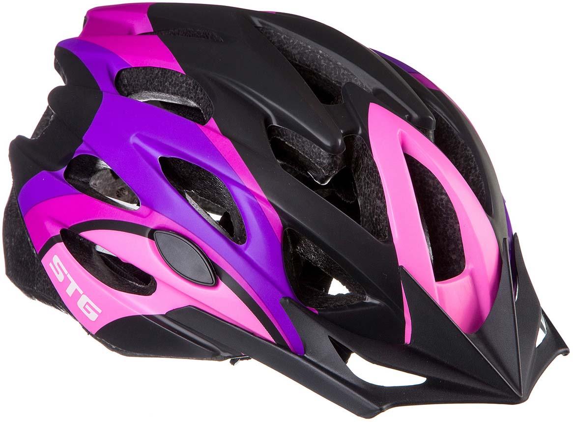 Шлем STG MV29-A, цвет: розовый, фиолетовый, черный. Размер L (58-61 см)