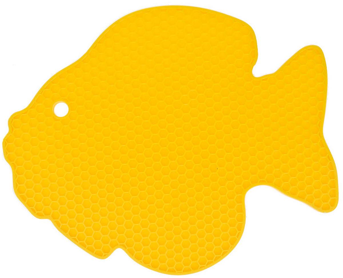 """Подставка под горячее из силикона """"Рыбка"""" - это эстетика и практичность. Яркий дизайн всегда радует глаз, а универсальный материал спасет Ваш стол от повреждений."""