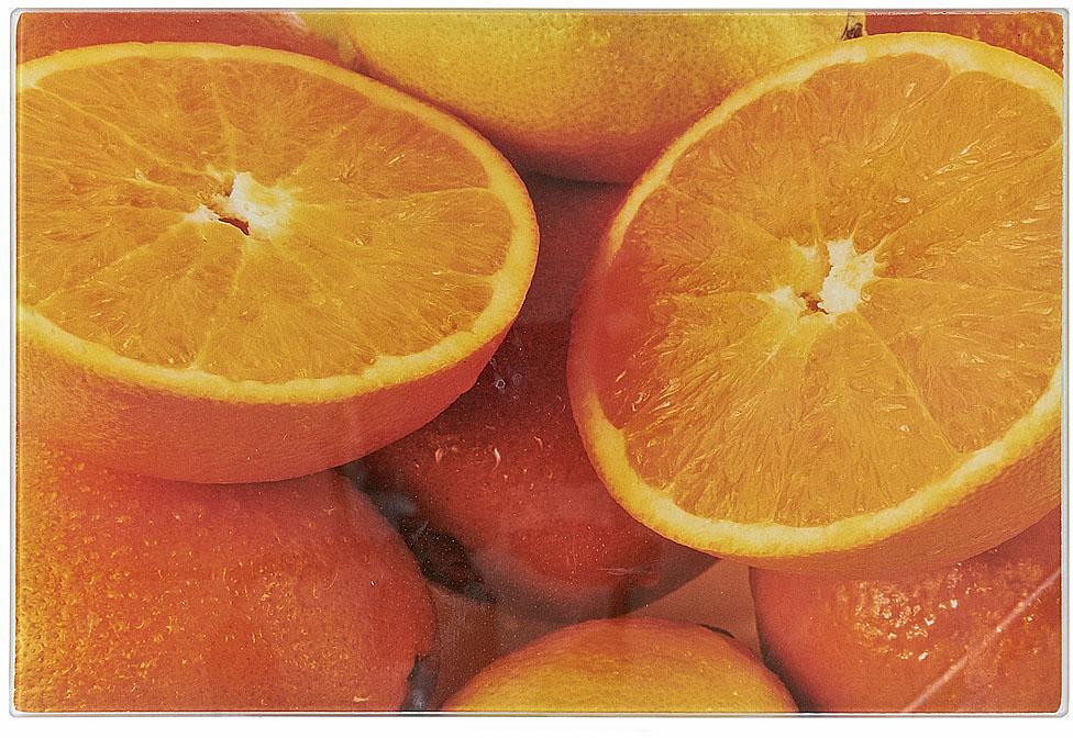 Доска разделочная Best Home Kitchen Апельсин, стеклянная, 40 х 30 х 0,5 см доска разделочная taller 2210