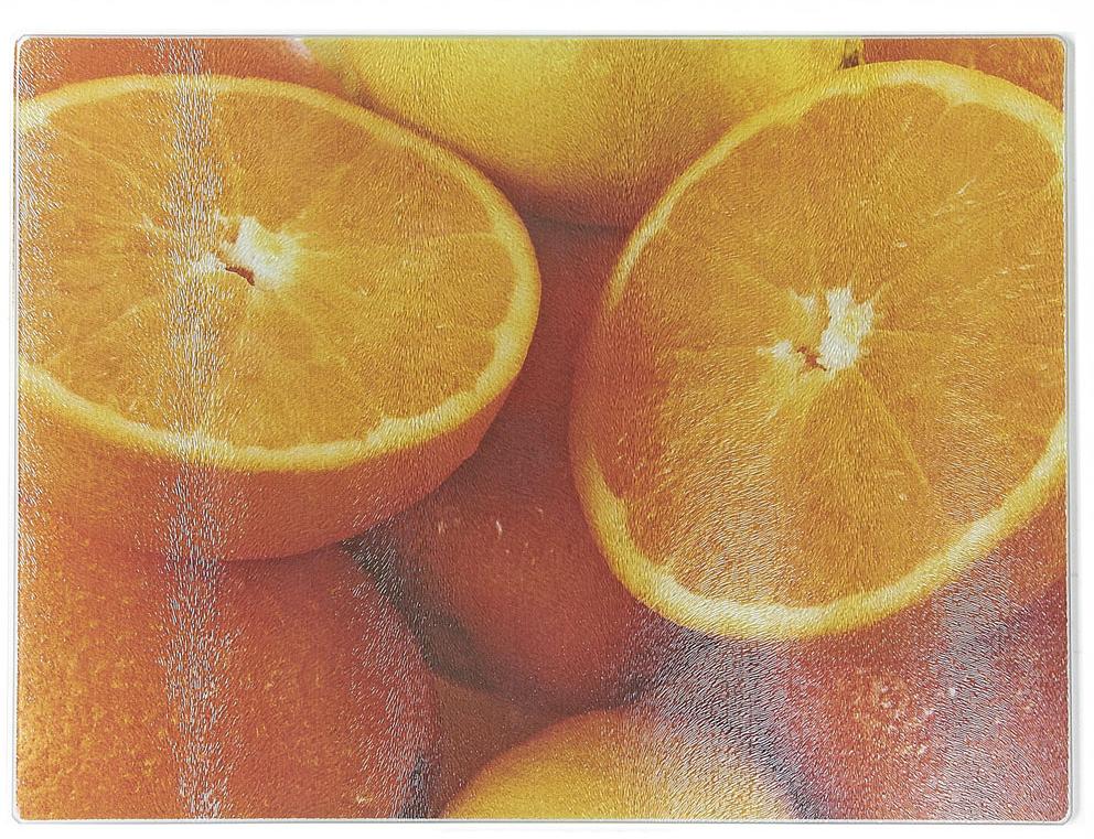 Доска разделочная Best Home Kitchen Апельсин, стеклянная, рифленая, 40 х 30 х 0,5 см чайник электрический tefal ko 270130