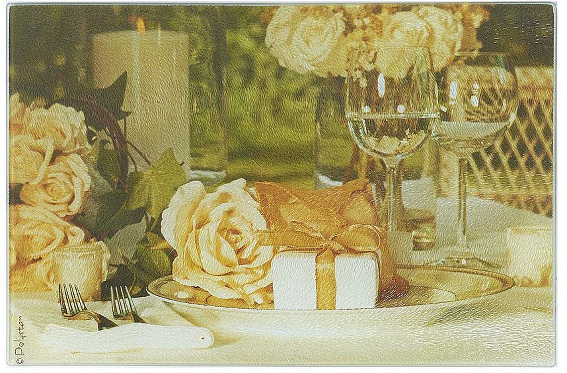 """Разделочная доска """"Сюрприз"""" изготовлена из жаропрочного стекла. Функциональная и простая в использовании, разделочная доска отлично впишется в интерьер любой кухни и прослужит вам долгие годы."""