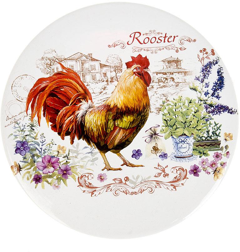 """Подставка под горячее из керамики """"Rooster"""" - это эстетика и практичность.Яркий дизайн всегда радует глаз, а практичное дно, выполненное из пробки, спасет ваш стол от повреждений."""