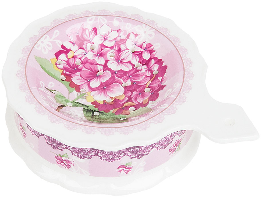 Подставка  чайный пакетик Nouvelle De France Розовая гортензия, 13 х 10  ,5 см