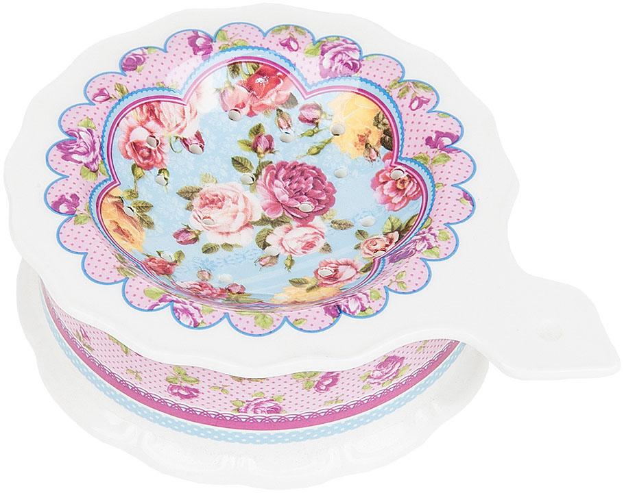 """Подставка под чайный пакетик """"Розовый нектар"""" выполнена из фарфора. Оригинальный яркий дизайн станет эффектным акцентов в вашей кухне."""