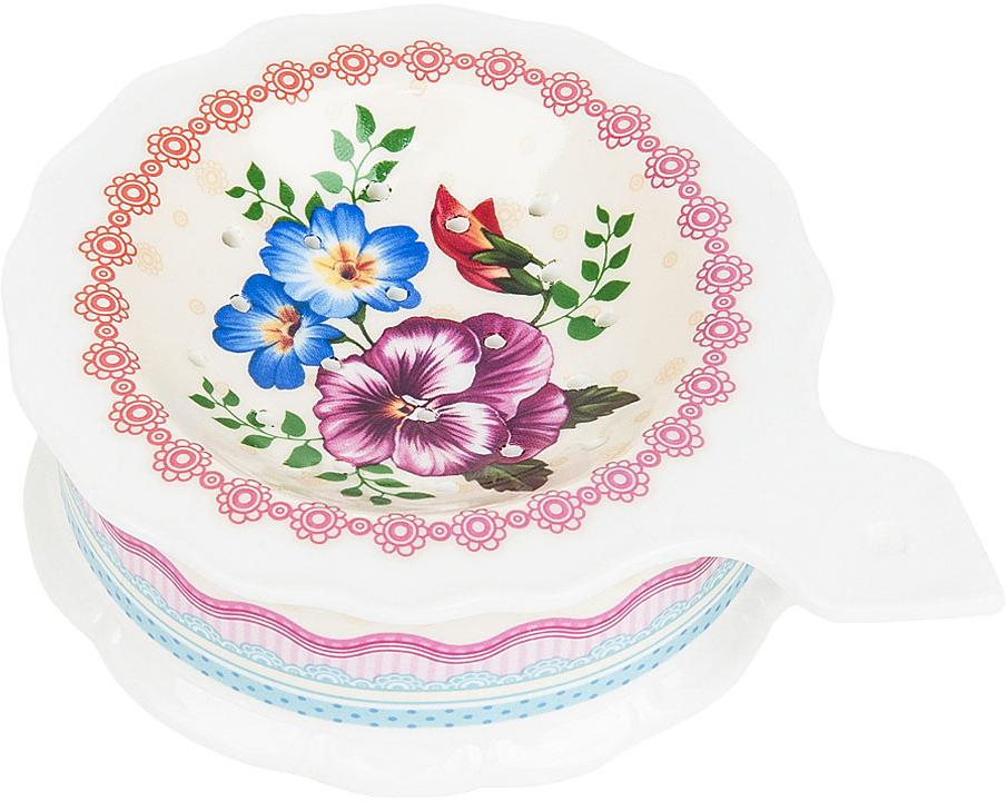 """Подставка под чайный пакетик """"Версаль"""" выполнена из фарфора.Оригинальный яркий дизайн станет эффектным акцентов в вашей кухне."""