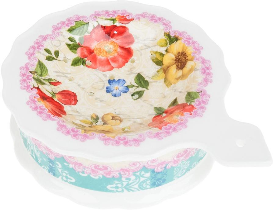"""Подставка под чайный пакетик """"Цветочная поэма"""" выполнена из фарфора. Оригинальный яркий дизайн станет эффектным акцентов в вашей кухне."""