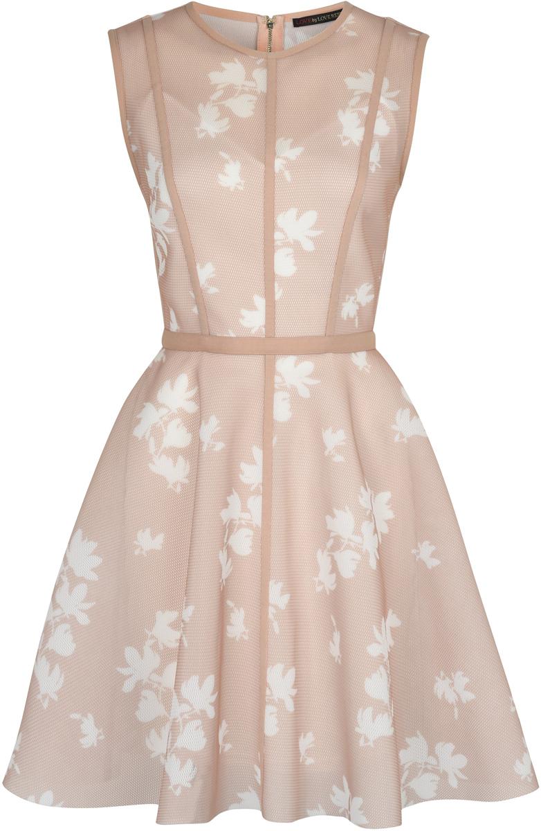 Платье Love Republic, цвет: бежевый. 8254305501_65. Размер 44 брюки женские love republic цвет бежевый 8254401702 62 размер 44