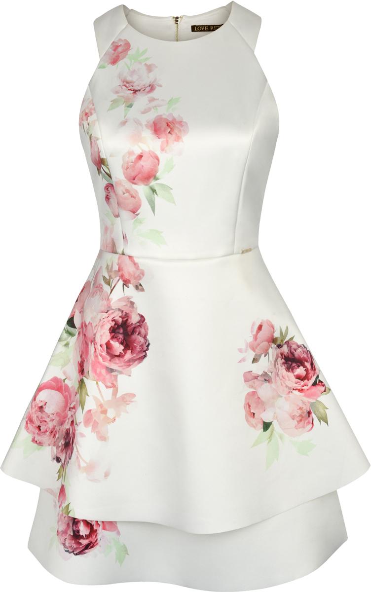 Платье Love Republic, цвет: белый. 8254104514_4. Размер 44 платье love republic love republic lo022ewxsm74