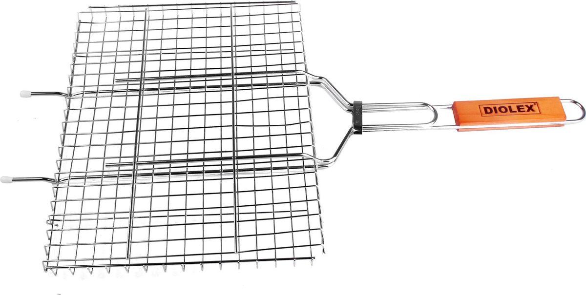 Решетка-гриль Diolex, цвет: серебристый, 35 х 26 смDX-M1203Решетка для гриля 35 x 26 см