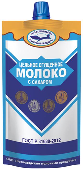 Молоко цельное сгущенное с сахаром в удобной упаковке дой-пак. Сделано по ГОСТ 31688-2012. Отличная цена при отличном качестве.