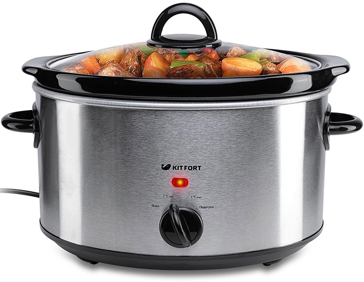 Kitfort КТ-2010, Gray Metallic медленноваркаКТ-2010Медленноварка КТ-2010 является отличным решением для тех, кто любит блюда длительногоприготовления. Это каши, рагу, жаркое, соусы, варенье, топленое молоко и ряженка, пудинги, идаже пироги. Тушение, томление или запекание при невысокой температуре, с минимальным количествомжиров или в собственном соку, является одним из лучших вариантов приготовления диетическихблюд. Так как медленноварка готовит продукты при малых температурах, продукты в ней неподгорают и не выкипают. Их не надо постоянно помешивать. В медленноварке даже жилистоедешевое мясо получается мягким и нежным. Объем керамической кастрюли: 3 л.