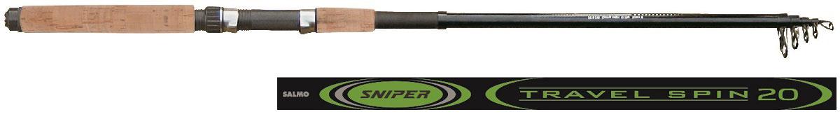 Удилище спиннинговое Salmo Sniper TRAVEL SPIN 20 2.40, телескопическое, 2,4 м