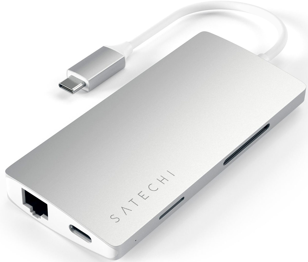 Satechi ST-TCMA2S, Silver USB-концентратор Type-C - USB 3.0/Multi-Port Adapter V2 / HDMI / Ethernet RJ-45 xiaomi usb 3 1 type c to hdmi converter adapter white