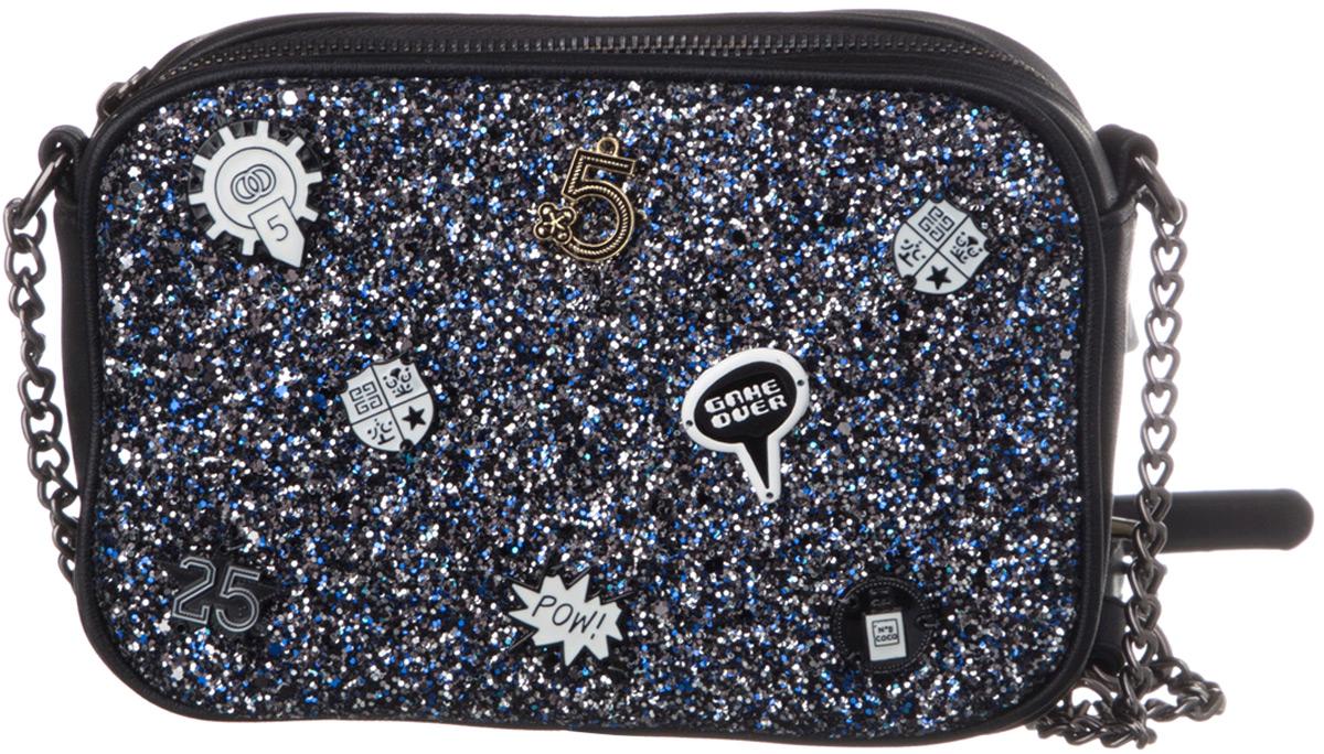 Сумка для девочки Vitacci, цвет: черный, синий. BG02005