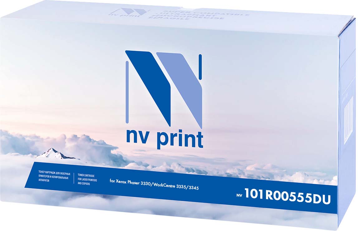 NV Print NV-101R00555DU, Black фотобарабан для Xerox Phaser 3330/WorkCentre 3335/3345 (30000k) цена 2017