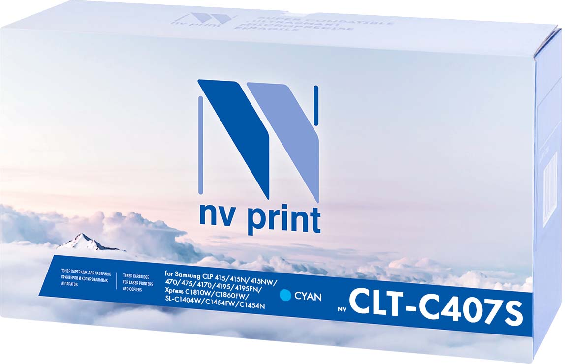 NV Print NV-CLTC504SC, Cyan тонер-картридж для Samsung CLP 415/415N/415NW/470/475/4170/4195/4195FN/Xpress C1810W/C1860FW/SL-C1404W/C1454FW/C1454N (1800k)NV-CLTC504SCСовместимый лазерный картридж NV Print NV-CLT504S для печатающих устройств Samsung - это альтернатива приобретению оригинальных расходных материалов. При этом качество печати остается высоким. Картридж обеспечивает повышенную чёткость чёрного текста и плавность переходов оттенков серого цвета и полутонов, позволяет отображать мельчайшие детали изображения.Лазерные принтеры, копировальные аппараты и МФУ являются более выгодными в печати, чем струйные устройства, так как лазерных картриджей хватает на значительно большее количество отпечатков, чем обычных. Для печати в данном случае используются не чернила, а тонер.