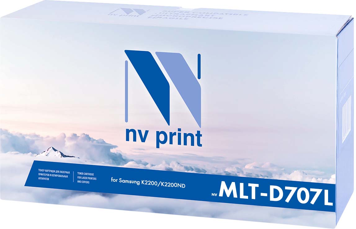NV Print NV-MLTD707L, Black тонер-картридж для Samsung SL-K2200/K2200ND (10000k) худи print bar cs go asiimov black