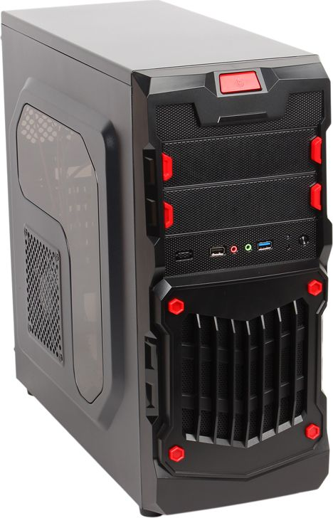 Oldi Computers Game PC 710, Black настольный компьютер настольный компьютер gigabyte gb bki5ha 7200